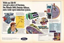 1970 FORD 351-4V ENGINE /  DONNIE ALLISON ~  ORIGINAL 2-PAGE PRINT AD
