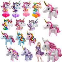 3D Giant Magical Unicorn Balloons Baby Shower Rainbow Horse Birthday Party Decor