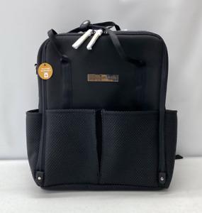 NEW Petunia Pickle Bottom Intermix Backpack Diaper Bag Tote In Black Neoprene