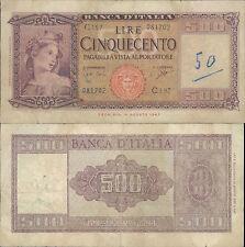 500 LIRE ITALIA ORNATA DI SPIGHE DEC.23/03/1961 R@RO