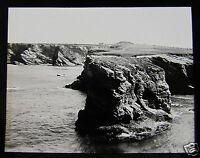 Glass Magic lantern slide NEWQUAY PORTH C1920 ENGLAND CORNWALL L66