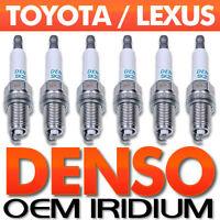 6PC Genuine DENSO Spark Plug Set Iridium Long Life OEM for GS350, IS250,IS350 +