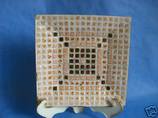 Vintage Mosaic Square Tile Tray Mcm Earth Tones ~ Beautiful