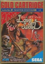 "SEGA GOLD CARTRIDGE 2M MARK III MASTER SYSTEM""LORD OF SWORD""THE FM BRAND NEW"