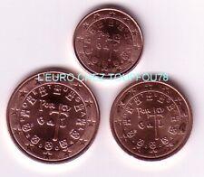 Pièces de 1,2,5cts euros du Portugal 2005.