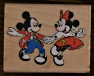 Rubber Stampede At The Hop Mickey & Minnie Mouse Rubber Stamp 399E Disney Dance