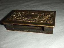 Superb Brass Match Box Holder Vester Antique N157
