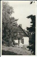 Ansichtskarte Foto-Casper Langenhennersdorf - Haus im Wald - schwarz/weiß