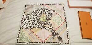 Hermes APPALOOSA DES STEPPES Pocket Scarf Gavroche 45cm (NEW WITH TAGS)