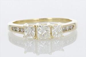 Past Present Future® 1.02ctw Diamond Engagement Ring 14K Yellow Gold Size 8