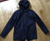 Serge Denimes London Nonoise Navy Blue Hooded Fleece Lined Jacket Chest 44