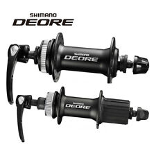 SHIMANO DEORE M615 Front Rear Disc Brake Hub&Quick Release Black New