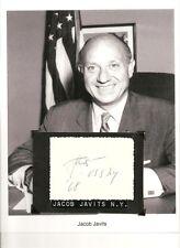 Jacob K. Javits - Autograph Senator, Representative, Attorney General New York