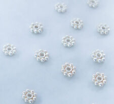 30 Sterling Silver Bali Daisy Spacer Beads 4mm, USA Seller