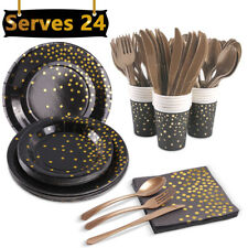 168pcs Birthday Party Cutlery Kit Plates Cups Tableware Wedding Event Supplies