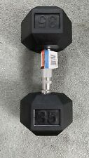 New (1) Single Weider 35 Lb Pound Rubber Coated Hex Dumbbell Weight DRH35