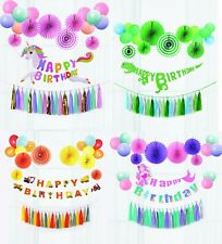 Birthday Party Bunting Banner Balloon Tassel Girl Boy Complete Set UK STOCK NEW