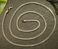 Schlichte 925 Sterling Silber Kette Viereckig Würfel Leicht Vierkant