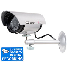 SecurityCamera Dummy Fake Indoor Outdoor CCTV Dummy Security Camera LED Light .