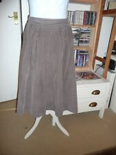 Vintage M&S corduroy day skirt, light brown, size 14