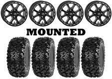 Kit 4 Sedona Rip Saw Tires 27x9-14/27x11-14 on ITP Tsunami Matte Black CAN