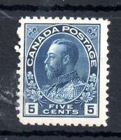 Canada KGV 1911 5c blue mint MH SG#206 WS13938