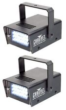 Chauvet LED Mini Strobe Manual Adjust LEDs DJ Club Light Effects (Pair) | CH-730