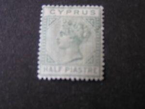 *CYPRUS, SCOTT # 11, 1/2pi. VALUE EMERALD GREEN 1881 QV ISSUE MH