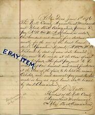 1876 PROMISSORY Belton Texas JG BATTE Agricultural Mechanical Blood Stock Assoc.