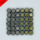 1/64 10mm Hellaflush Style Alloy Wheels Rubber Tires For Hot Wheels,Tomica,Tomy