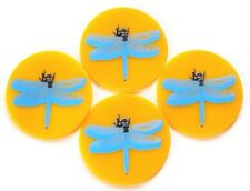 Yellow Dragonfly Table Coasters Drink Coasters Spoon Rest Candle Base Barware