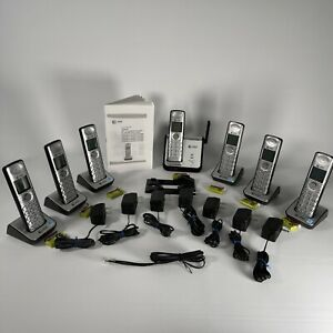 AT&T CL80109 Refurbished 7 Handset Cordless Phone - New Batteries