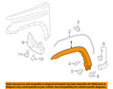 TOYOTA OEM 4Runner-Front Fender Flare Wheel Well Arch Molding Left 5384835906