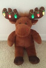 Build A Bear Christmas Moose Reindeer w Light Up Antlers Lights Music Hal BABW