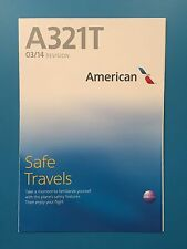 AMERICAN AIRLINES SAFETY CARD--AIRBUS 321T
