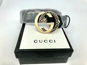 GUCCI GG belt double GG buckle belt black