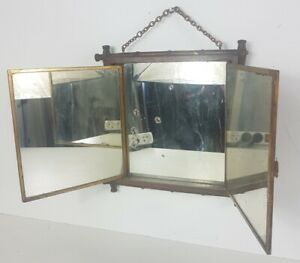 Mirror Gilt Triple Antique, Entourage Wood Style Bamboo