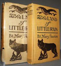 The Land of Little Rain Austin, Mary 1903 Sierra Edition Dust Jacket Zamorano #2