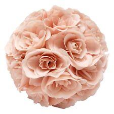 Blush Flower Kissing Ball Wedding Silk Rose Ball Party Pomander Party Hanging