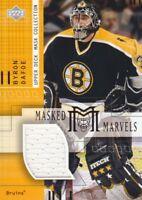 2001-02 UD Mask Collection Hockey Goalie JERSEY #MM-BD Byron Dafoe Boston Bruins