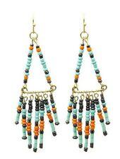 Native Tribal Western Beaded BOHO Hippie Rodeo Ethnic Cowgirl Fringe Earrings
