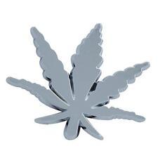 Look Cromo Leaf Cannabis Hoja De Ganja Forma Decoración Para Coches Portátil