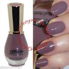 Glossy TAUPE Nail Polish Varnish by Saffron London #10 Lilac Chiffon