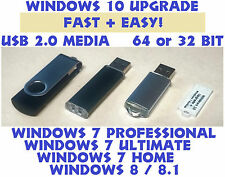 ☕ Windows 10 Upgrade for Windows 7 + 8.1 USB, and BACKUP INSTALLATION RECOVERY ☕
