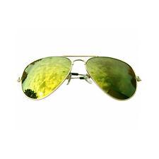 Pornobrille Pilotenbrille Sonnenbrille silber/grün Aviator Stil «