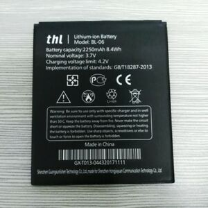 Original BL-06 BL06 2250mAh 3.7V Li-ion Battery For THL T6 T6S T6Pro Warranty