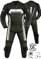 MOTORCYCLE MOTORBIKE CE Approved ARMOUR PROTECTION RACING1&2 PIECES LEATHER SUIT