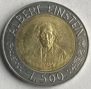 San Marino 500 Lire 1984 (KM#167) Albert Einstein