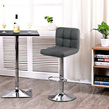 ModernFurniture Breakfast Chair Chrome 2pc Bar Stools Faux Leather Kitchen Stool