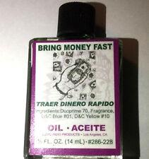 Bring Money $ Fast Oil - 1/2 Oz 14 mL Traer Dinero Rapido Green Free Shipping